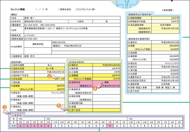 CICの信用情報開示報告書